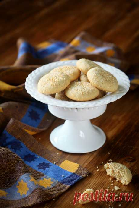 Verdade de sabor: Кунжутное печенье / Bolachas de sésamo