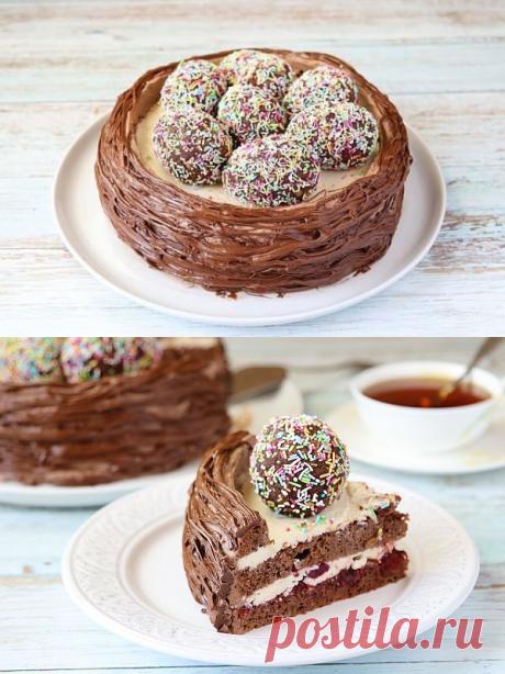 Пасхальный торт «Гнёздышко» — Бабушкины секреты