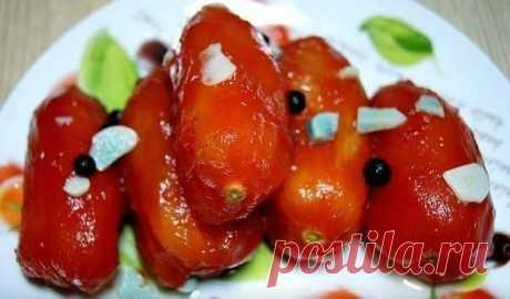 Закусочные помидоры за сутки. Рецепт Любови Чумаченко.