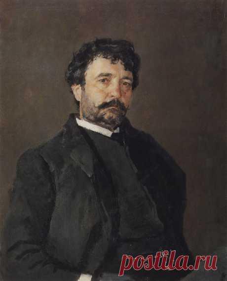 Портрет итальянского певца Анджело Мазини. 1890     Валентин Александрович Серов (1865-1911). Часть 1: vakin