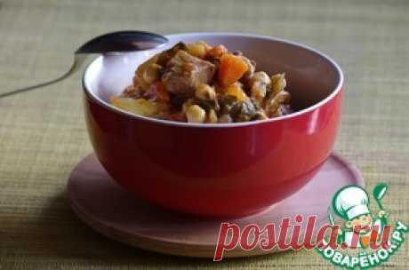 El cordero con nutom en la olla a presión - la receta de cocina