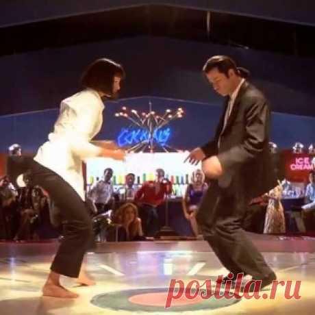 Легендарный танец Умы Турман и Джона Траволты из «Криминального чтива». Сыграно гениально!
