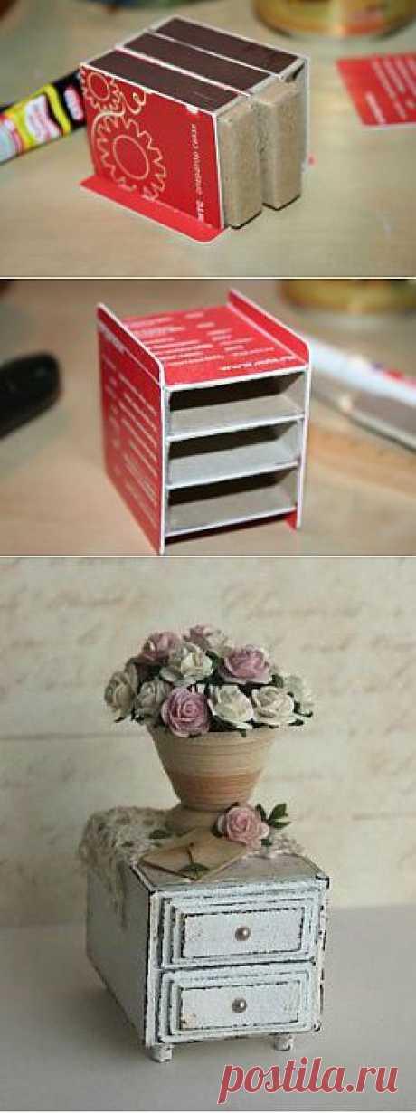Кукольная мебель из спичечных коробков. МК | СВОИМИ РУКАМИ