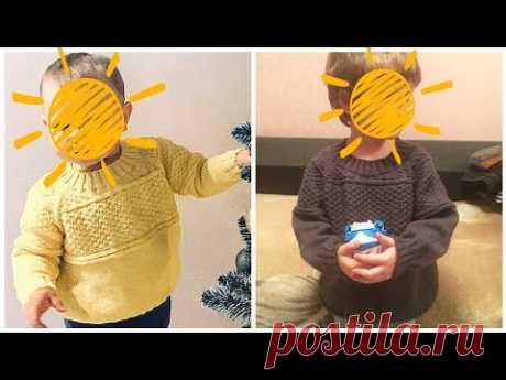 МК Детский свитер для мальчика спицами. Реглан сверху. 2 часть