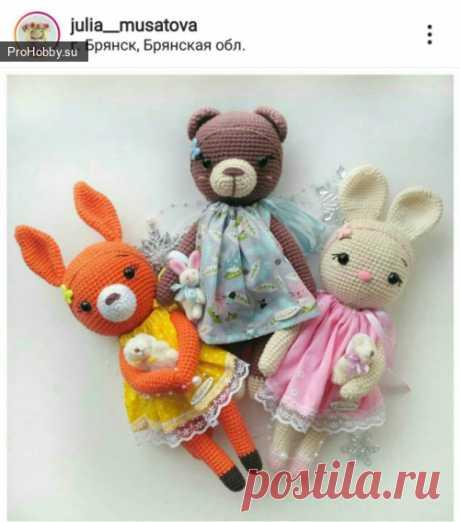 Белочка Юлии Мусатовой / Вязание игрушек / ProHobby.su | Вязание игрушек спицами и крючком для начинающих, мастер классы, схемы вязания