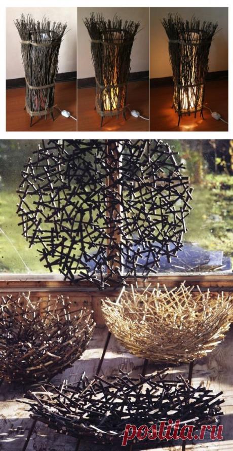 Интересные идеи декора из веток — Сделай сам, идеи для творчества - DIY Ideas