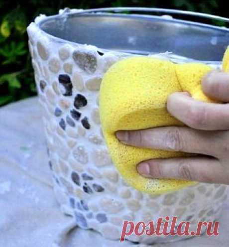 Цветочный горшок из ведра для дома и дачи своими руками | 33 Поделки | Яндекс Дзен