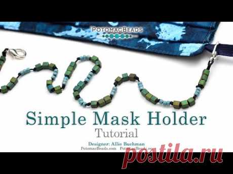 Simple Beaded Mask Holder - DIY Jewelry Making Tutorial by PotomacBeads