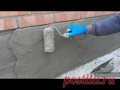 """(270) Вечная штукатурка цоколя за """"дешевле некуда"""" из цемента и песка. часть 1. - YouTube"""