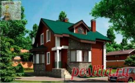 Общая площадь дома составляет: 116,11 м 2, в том числе жилая площадь - 58,96 м 2. Высота первого этажа 3,200 м.
