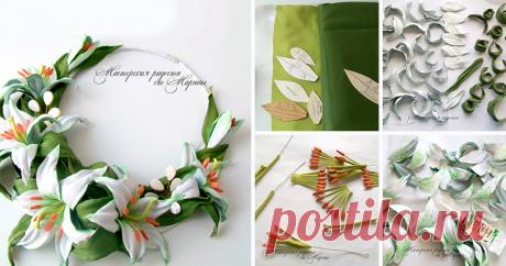 El collar para la novia «la Ternura de las azucenas» - la Feria de los Maestros - la labor a mano, handmade