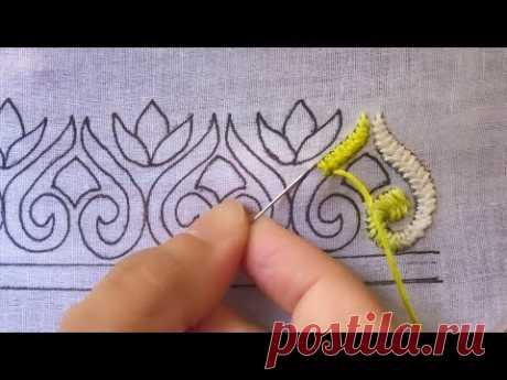 hand embroidery border design ,gorgeous border design for dress,cross stitch