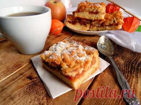 Самый простой рецепт пирога! Тертый пирог с вареньем к чаю по маминому рецепту
