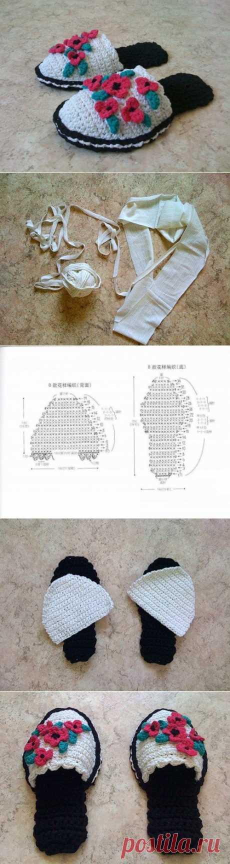 Тапочки из ненужных футболок. Автор Milisa
