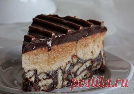 Как приготовить торт с печеньем, шоколадом и сгущённым молоком без выпечки - рецепт, ингредиенты и фотографии
