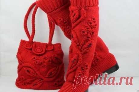 Идеи для любителей вязания – красивая вязаная обувь от мастера Мадам Сапожок Ксения | Golbis