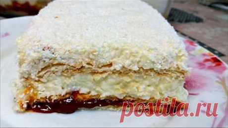 """Торт за 5 МИНУТ """"Рафаэлло"""" БЕЗ ВЫПЕЧКИ! Вместо тысячи слов! cake in 5 minutes"""