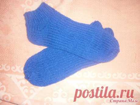 Вязаные носочки на ивушке - Вязание - Страна Мам