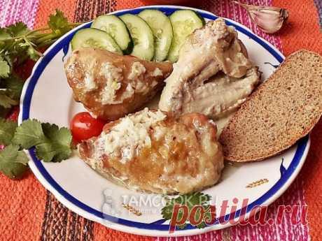 Шкмерули — рецепт с фото Традиционное блюдо грузинской кухни, представляющее собой курицу, запеченную в молочно-чесночном соусе. Вкусное, сочное и ароматное блюдо!