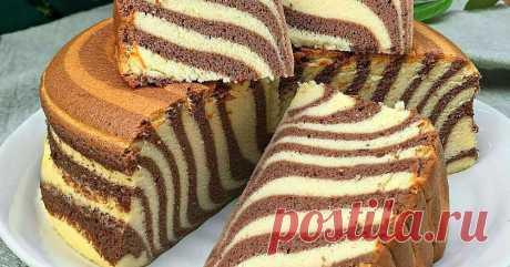 Как приготовить манник «Зебра»: пышный, воздушный, яркий вкусный пирог