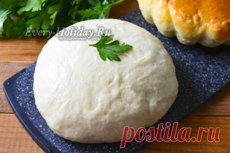 Быстрое тесто для пирожков за 15 минут на молоке