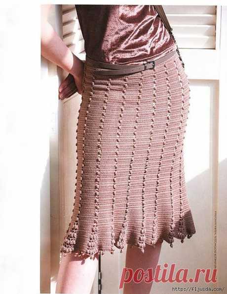 2 часть. Вяжем крючком стильные юбки..