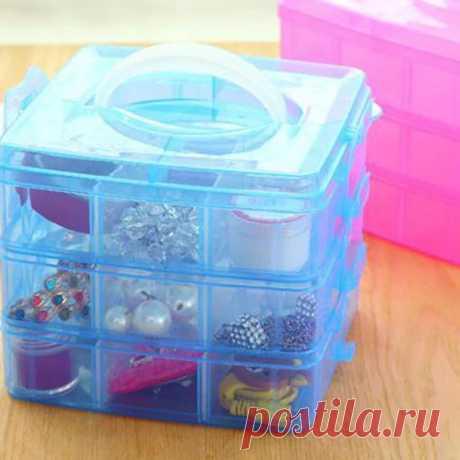 Регулируемая пластиковая коробка для хранения, коробка для ювелирных изделий, алмазная вышивка, ремесло, бисерные таблетки, инструмент для хранения 3 вида цветов|Ящики и баки для хранения| | АлиЭкспресс