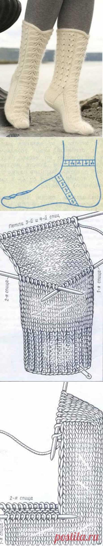 Вязание носков на 5 спицах - 18 Ноября 2011 - СХЕМЫ ВЯЗАНИЯ - Вязание крючком и спицами