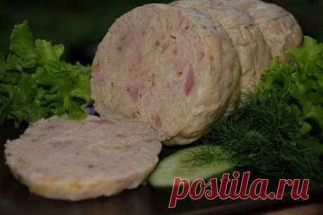 Варена колбаса с ветчиной домашняя | Вкусный каприз.