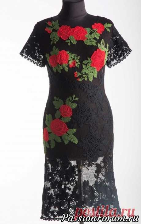 Платье «Испанская роза». | Ирландское кружево
