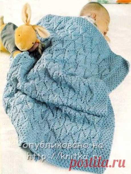 Морской плед для малыша, Вязание для детей
