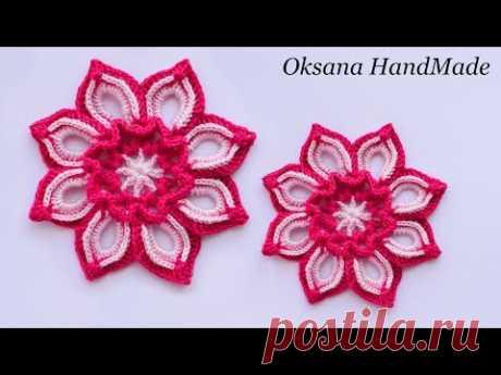 Цветок крючком. Мастер класс+схема. Flower crochet