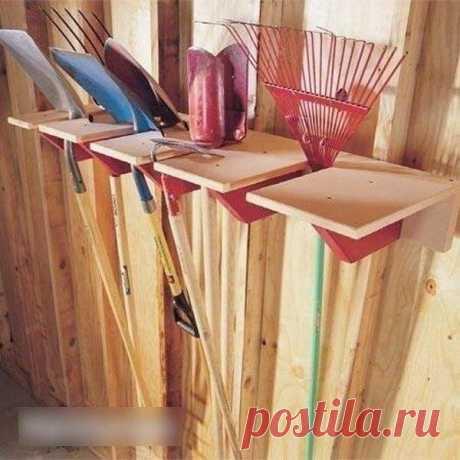 Идеи организованного хранения дачных инструментов — Сделай сам, идеи для творчества - DIY Ideas