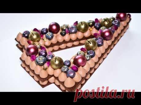 Шоколадный ТОРТ-ЦИФРА Торт- Ёлочка Шоколадный крем