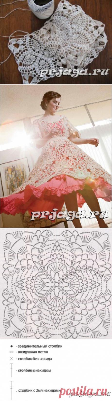 Волшебное платье крючком