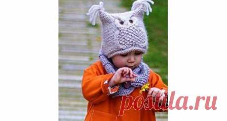Шапка Сова — 3 модели со схемой вязания и описанием на спицах Как связать шапочку с узором Сова? Описание вязания на три разных возраста от новорожденного до взрослого. Пошаговые видео мастер классы.