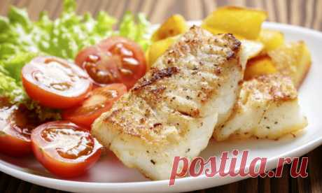 Палтус с запеченным картофелем, лимоном и укропом | Pentad