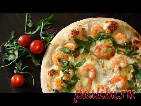 Вкуснее чем просто ПИЦЦА С МОРЕПРОДУКТАМИ, рецепт как в пиццерии, ТЕСТО ДЛЯ ПИЦЦЫ