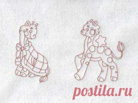 Diseños de bordado a máquina - Cute Jiraffe Bedtime Set