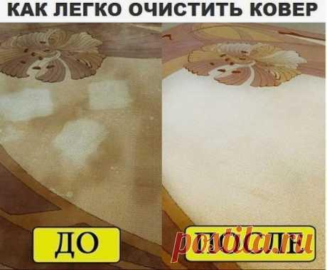 Как очистить ковёр