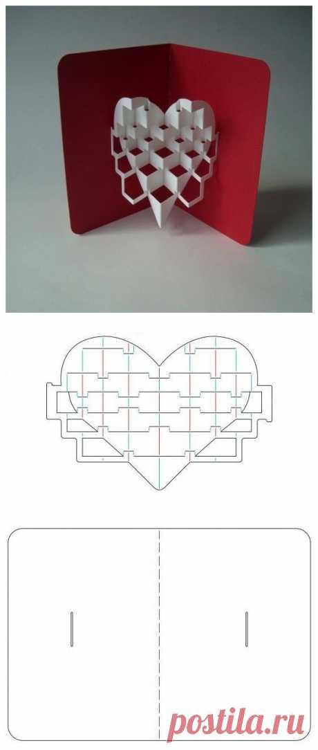 Схемы для pop up открыток с объемным изображением где можно найти? Схемы?