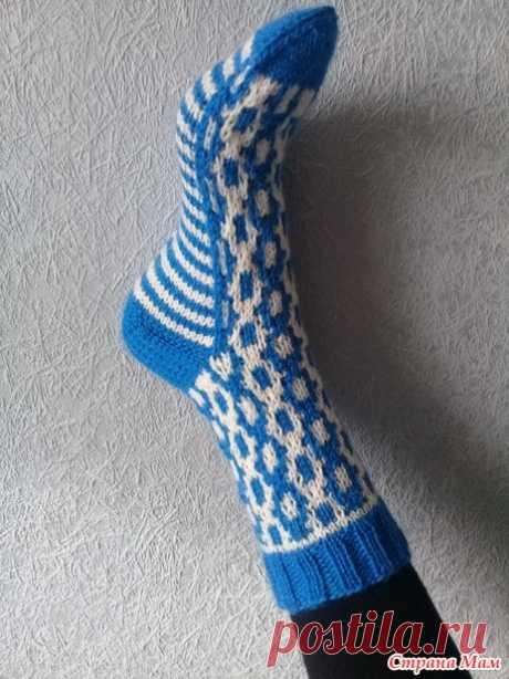 Детские носочки ленивым жаккардом на конкурс - Хенд-Мейд   HANDMADE - Страна Мам