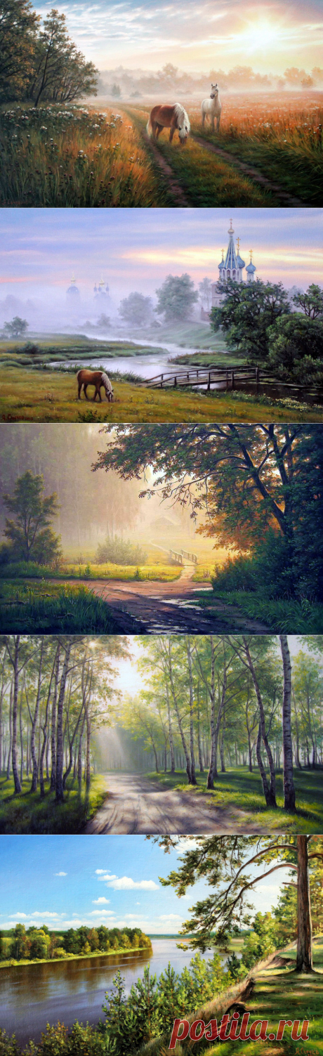Тихие пейзажи России в творчестве художника Алексея Сычёва