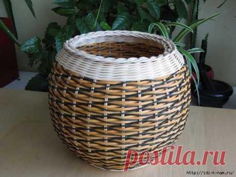 Красивый узор вазы для плетения из газетных трубочек. мастер - класс