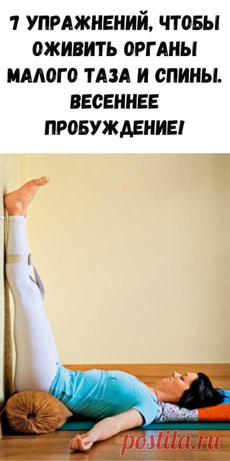 7 упражнений, чтобы оживить органы малого таза и спины. Весеннее пробуждение! - Журнал для женщин