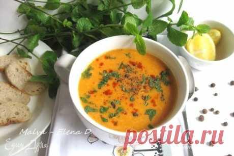 Турецкий суп из красной чечевицы . Ингредиенты: чечевица красная, вода, томатная паста
