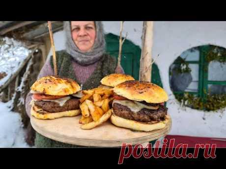 Готовим Бургер из Баранины на Садже