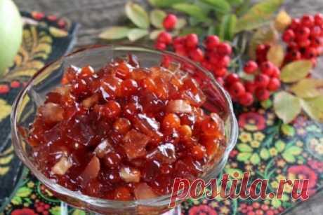Вкуснейшее варенье из красной рябины и яблок