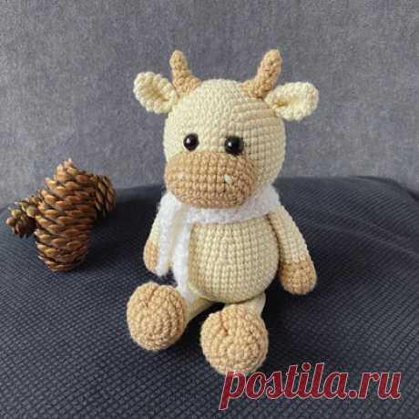 1000 схем амигуруми на русском: Вязаный бычок