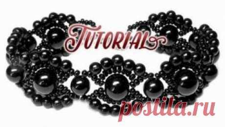 Как быстро сделать черный браслет в винтажном стиле своими руками